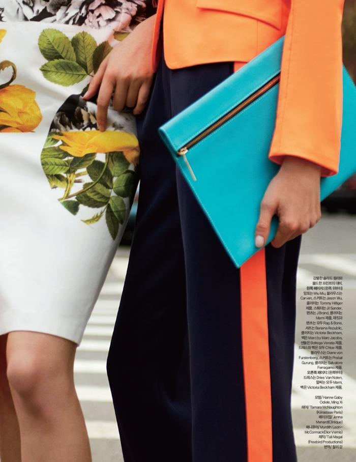 Ming Xi & Hanne-Gaby Odiele by Tommy Ton (Street Smart - Harper's Bazaar Korea May 2012) 6